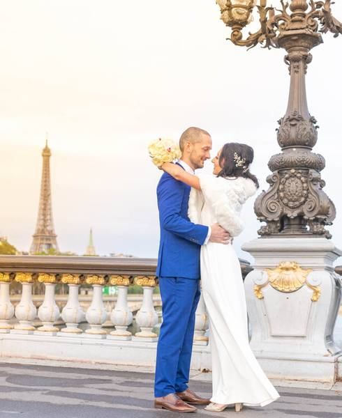 Photo mariage Paris Pont Alexandre III